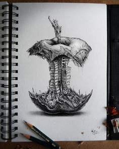 Illustration | Amazing Graphite Pencil Drawings by PEZ