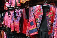 Handsewn and embroidered Hmong jackets, Doi Pui, Thailand