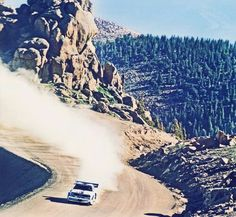 Audi Quattro tackling the mighty Pikes Peak in 1987 Audi Sport, Sport Cars, Motor Sport, Nascar, Audi Motorsport, Hill Climb Racing, Rally Raid, Pikes Peak, Audi Cars
