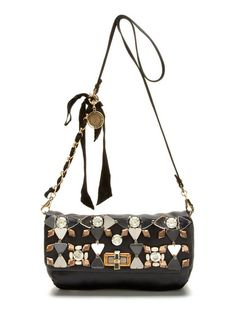 Medium Satin Embellished Crossbody