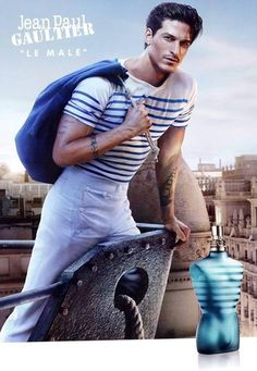 Jean Paul Gaultier, Le Male Fragrance--Fresh mint is a symbol of strength; the tradition is represented by lavender; vanilla gives warmth and tenderness. The top notes are composed of mint, lavender and bergamot. The heart is composed of cinnamon, cumin, and orange blossom. The base contains vanilla, tonka bean, sandalwood and cedarwood.