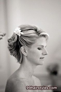 wedding hairstyle for short hair - 99 Hairstyles Ideas