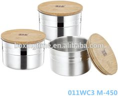 Bamboo Cover Vacuum Airtight stainless steel food container storage box contianer homes for sale pie container Buy Bamboo, Food Storage Containers, Pie, Packaging, Stainless Steel, Homes, Green, Torte, Cake