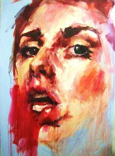 Untitled in Blue, Elly Smallwood Portraits, Portrait Art, Painting Inspiration, Art Inspo, Elly Smallwood, My Art Studio, A Level Art, Ap Art, Gcse Art