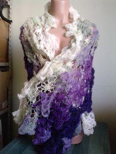 Lilac Angora big scarf