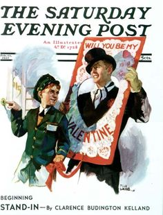 """""""Giant Valentine"""", Norman Rockwell (02/13/1937)"""