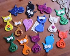 1 million+ Stunning Free Images to Use Anywhere Polymer Clay Cat, Polymer Clay Ornaments, Polymer Clay Animals, Polymer Clay Pendant, Polymer Clay Jewelry, Kids Clay, Play Clay, Clay Art Projects, Polymer Clay Projects