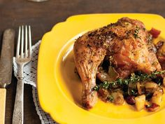 thyme roasted chicken with caramelized onions and apples - apples ...