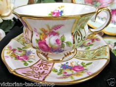 lovely cup & saucer trimmed in gold.