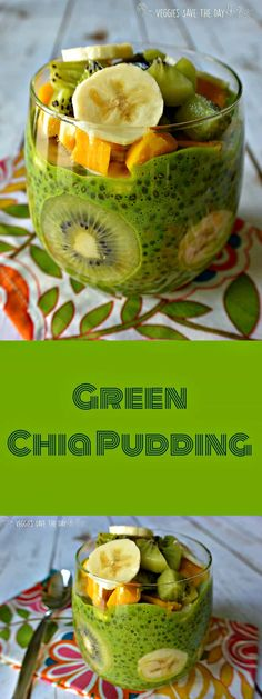 Green Chia Pudding (healthy, sugar free, dairy free, gluten free, vegan) is perfect for breakfast, a snack, or dessert!