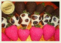Go wild with these animal print strawberries.  Driscoll's contest winner for Celebrating the Sweeter Moments.  |  Driscolls.com