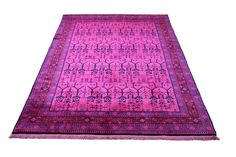 6×9 Hot Pink Overdyed Chinese Deco Rug 2808