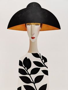 Danny Mcbride, Art Beat, Illustration Art, Illustrations, Art Deco Design, Surreal Art, Female Art, Hats For Women, Painting & Drawing