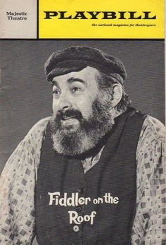 """Fiddler on the Roof — with Zero Mostel.………For more classic pictures of the 60's, 70's and 80's please visit and """"LIKE"""" my Facebook page at https://www.facebook.com/pages/Roberts-World/143408802354196"""