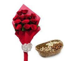 Buy Flower Basket With Dry-Fruits From Emotiongift In Indiore.