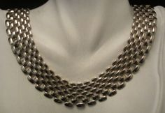 """Classic Runway Vtg 18""""x3/4"""" Gold Tone Link Statement Necklace A42"""
