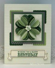 This card from Sylvia's Stamping Corner blog really caught my attention.