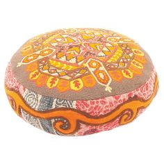 Add a touch of exotic appeal to your home with this colourful cushion, crafted from recycled kantha fabric.  Product: Cushio...
