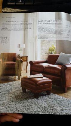 Laura Ashley leather sofa white/grey/blue room