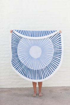 SUNBATHE ROUND TOWEL- Shop Strands: High-quality, exclusive-design, 5-foot, tasseled, round towels for any beach enthusiast. Orange County, California. FREE SHIPPING!
