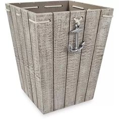 Better Homes & Gardens MDF Wood Nautical Wastebasket, 1 Each Enjoy a new, stylish take on a classic restroom staple with this nautical-inspired waste can. Nautical Bathroom Decor, Beach Theme Bathroom, Bathroom Layout, Bathroom Colors, Bathroom Sets, Master Bathroom, Beach Room, Coastal Decor, Modern Bathroom