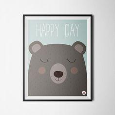Affiche décoration bébé Happy day !