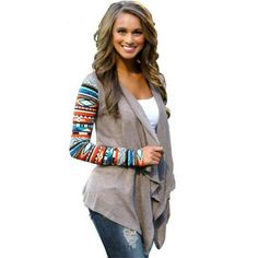 2015 New Aztec sleeve women Cardigan Female Long Asymmetrical Knitted Sweater casual Cardigans Sweaters Air conditioning Shirts(China (Mainland)) Cheap Cardigans, Cardigans For Women, Casual Fall Outfits, Sweater Coats, Autumn Fashion, Clothes For Women, Womens Fashion, Aztec