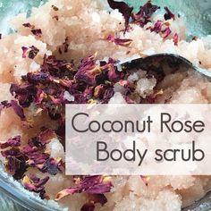 In My Soap Pot Coconut rose body scrub Salt Body Scrub, Body Scrub Recipe, Diy Body Scrub, Diy Scrub, Neutrogena, Homemade Scrub, Homemade Soaps, Homemade Products, Exfoliating Scrub