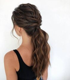 Bewitching Brunette Ombre Hair Ideas Guide) The UnderCut - Haare Stylen Formal Hairstyles, Pretty Hairstyles, Braided Hairstyles, Wedding Hairstyles, Hairstyle Ideas, Bridesmaid Hairstyles, Anime Hairstyles, Black Hairstyles, Celebrity Hairstyles