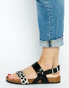 Image 4 ofBertie Jafari Pony Effect Flat Sandals