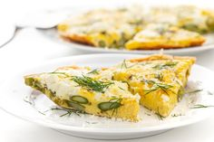 This simple frittata is bursting with fresh flavors from smoky, roasted asparagus and creamy, tangy goat cheese. Ideal for a make-ahead breakfast. Lemon Bowl, Asparagus Spears, Make Ahead Breakfast, Spanakopita, Frittata, Goat Cheese, Goats, Vegetarian, Fresh