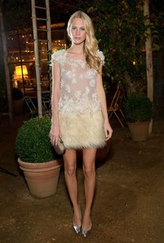 Poppy Delevingne in the perfect reception party dress