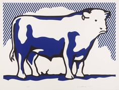 Roy Lichtenstein - Bull II, 1973, lithograph and line-cut on paper