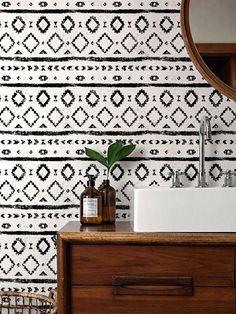 Zwart-wit behang / zwart-wit verwisselbare Wallpaper /
