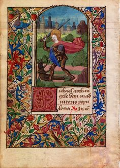 illuminated manuscript with forest border - Google Search