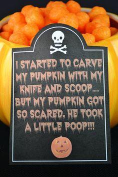 Sweetology: Pumpkin Poop!! Easy Halloween Treat + Printables