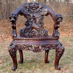 Bali Carved dragon chairs - Google Search