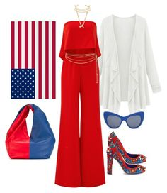 """""""It's About The Brave!"""" by loves-elephants ❤ liked on Polyvore featuring Jay Godfrey, Dolce&Gabbana, J.W. Anderson, Sydney Evan, Kenneth Jay Lane, Rosantica and STELLA McCARTNEY"""