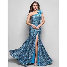 Want. Anniversary? Resort vacation? Trumpet/Mermaid One Shoulder Floor-length Sequined Evening Dress – USD $ 199.99