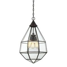 The Savoy House Austen pendant draws style inspiration from the idea of a faceted jewel, then adds a cool industrial twist with thin framing and large glass panels. Finished in English bronze. - Clear Glass -Bulb (s) not included Savoy House - 3 Light Pendant, Bronze Pendant, Pendant Lighting, Foyer Lighting, Home Depot, Lantern Chandelier, Lantern Pendant, Kugel, My New Room