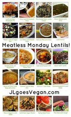 Meatless Monday Lentils (JL goes Vegan) Veggie Recipes Healthy, Lentil Recipes, Vegan Recipes Easy, Cooking Recipes, Vegan Fish, Raw Vegan, Vegan Vegetarian, Vegetarian Recipes, Meatless Monday