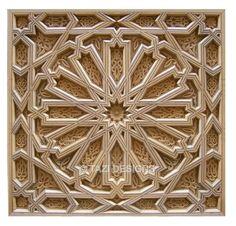 wood carved moorish tile (above fireplace?)