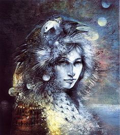 """""""Seven Moons Passing 1bis"""" par Susan Seddon Boulet"""
