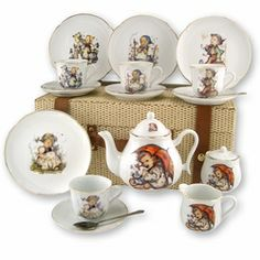This is the one! - This stunning tea set features various images from the MI Hümmel® collection including 5 officially licensed MI Hummel® images; 'He Loves Me', 'Lilly of the Valley', 'Merry Wanderer', 'Hansel and Gretel' and 'Umbrella Girl'. The set includes four 6