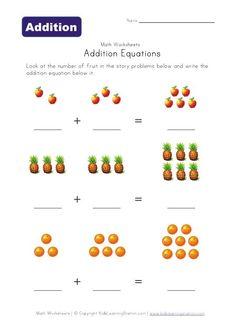 Addition preschool-worksheets