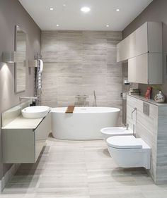Here are the Contemporary Bathroom Design Ideas. This article about Contemporary Bathroom Design Ideas was posted under the Bathroom category. Bathroom Tile Designs, Bathroom Layout, Modern Bathroom Design, Bathroom Interior Design, Bath Design, Bathroom Colors, Interior Ideas, Washroom Design, Modern Bathroom Lighting