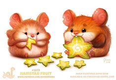 Daily Paint Hamstar by Cryptid-Creations on DeviantArt Cute Animal Drawings, Kawaii Drawings, Cute Drawings, Cartoon Art, Cute Cartoon, Animal Puns, Kawaii Art, Funny Art, Cute Puns