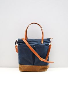 5ca109b1a64 Navy & Tan waxed canvas baby diaper bag nappy bag by ForestBags (maybe  DIY