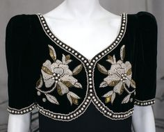 Elsa Schiaparelli Haute Couture Faux Bolero Gown 3