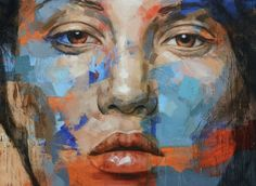 Scattered Stare, 2013, Oil on Linen, 170 x 230 lionel Smit, South Africa